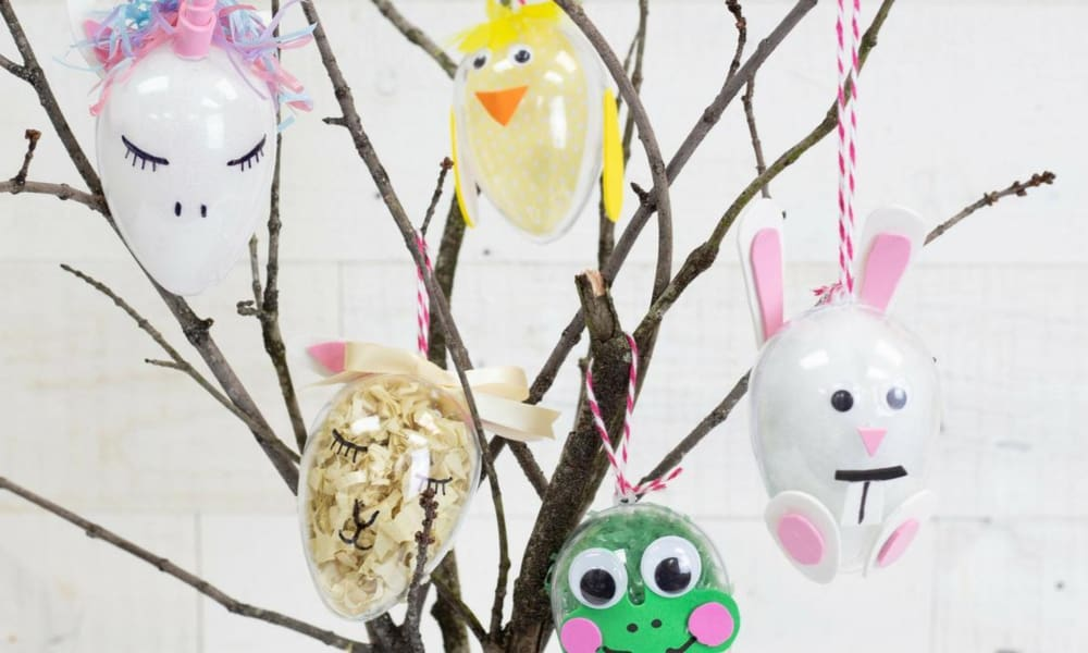 5 DIY EASTER EGG ORNAMENTS