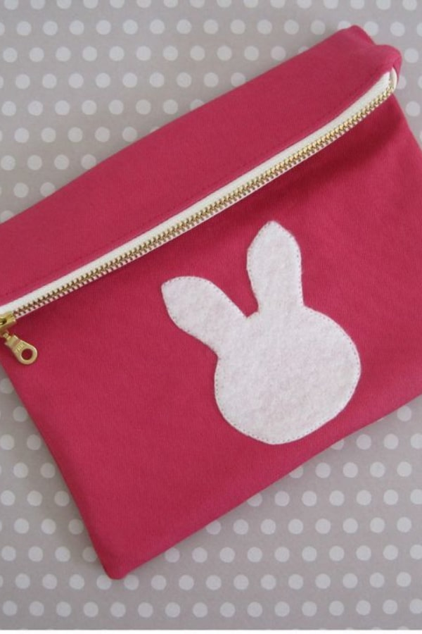 Bunny Foldover Clutch Sewing Tutorial