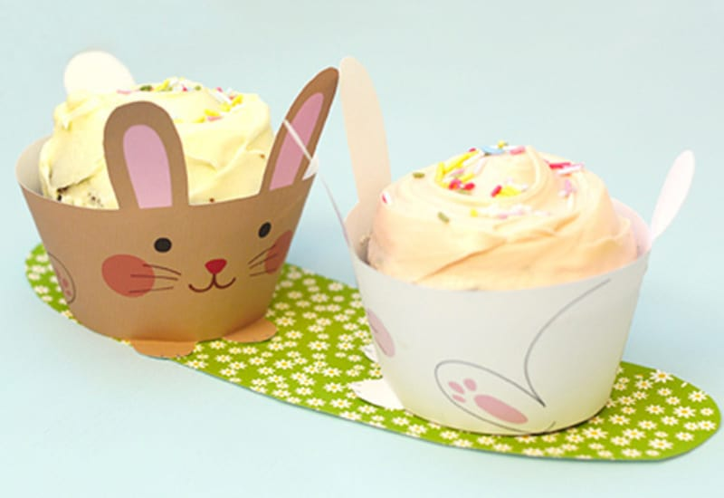 Bunny muffins and cupcake wrapper 1