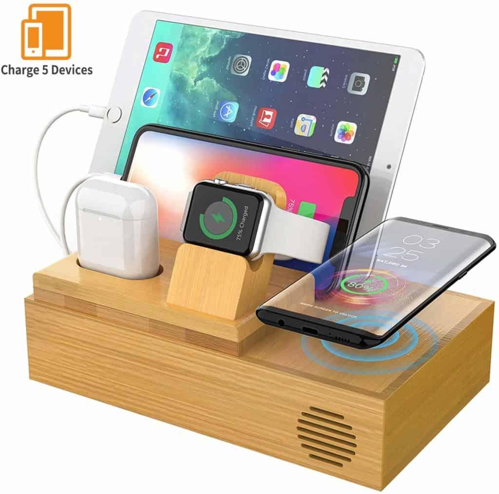 CHGeek Bamboo Wireless Charger
