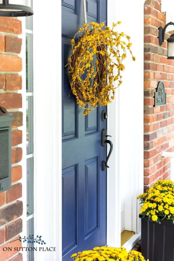 DIY Front Door Fall Wreath