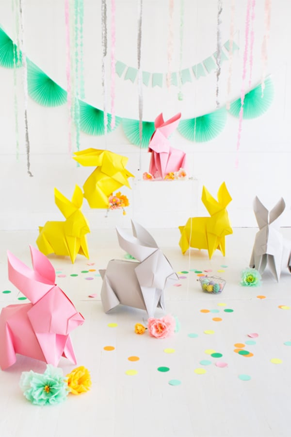 DIY GIANT ORIGAMI BUNNIES!