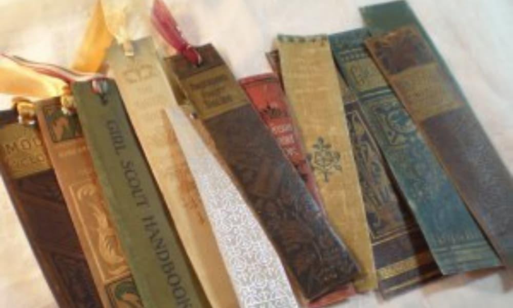 DIY Spine Bookmarks