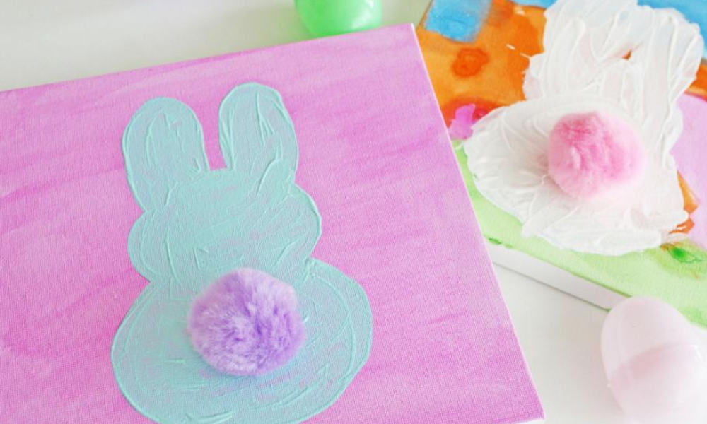 EASTER BUNNY CANVAS ART