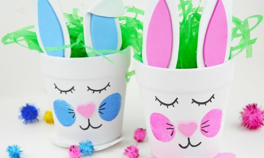 EASTER BUNNY FLOWER POTS