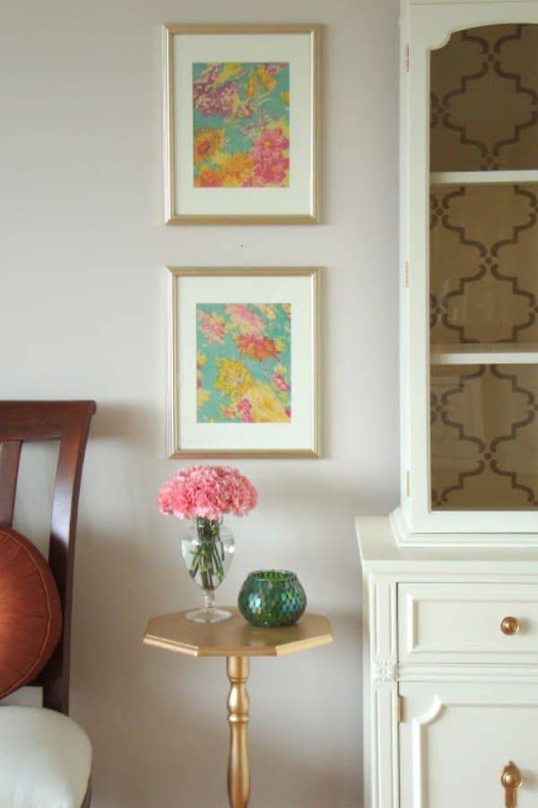 Easy & Inexpensive DIY Art A Framed Scarf