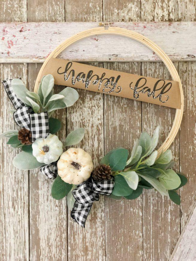 Fall DIY Series – Week 1 Fall Hoop Wreath