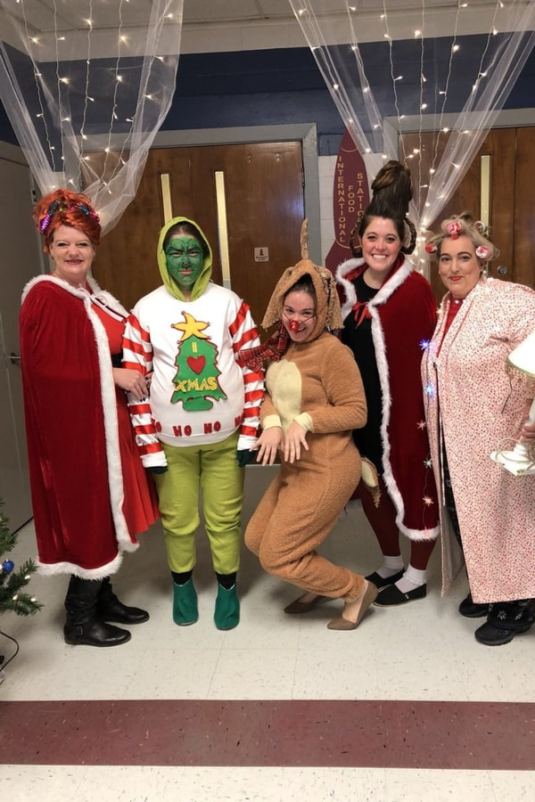 Holiday movie costume party
