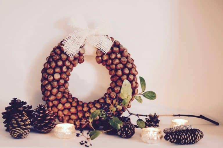 Make a Hazelnut Fall Wreath