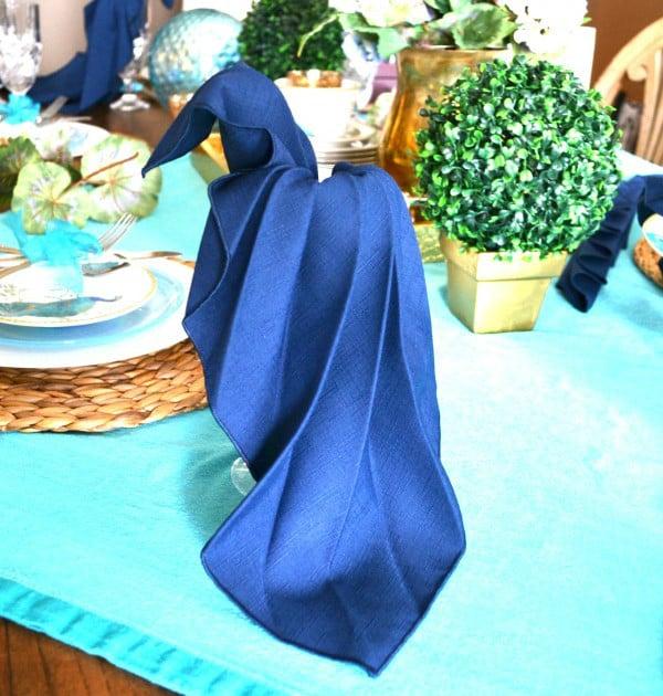 Peacock Napkin Fold