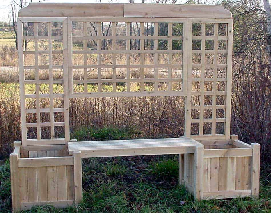 Planter Bench w Lattice