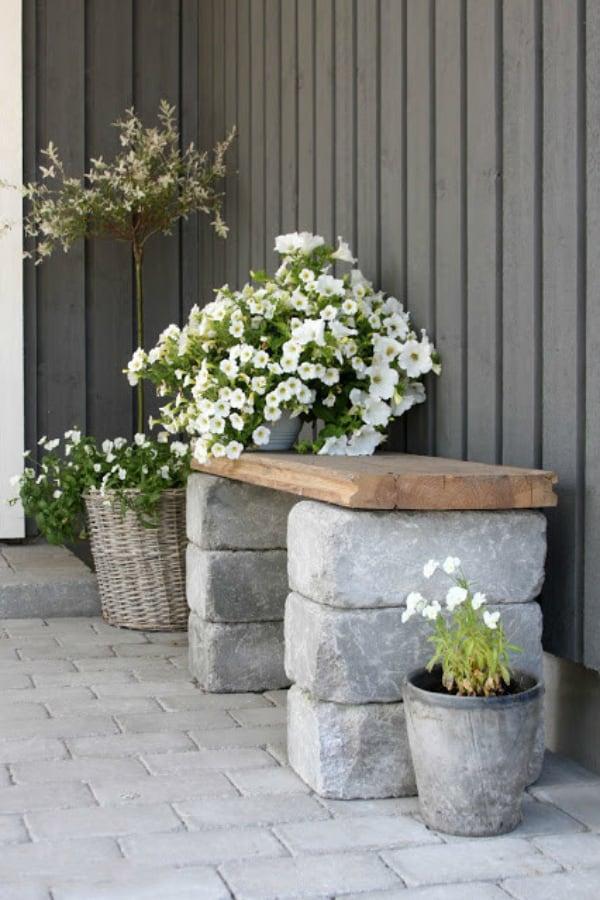 Rock bench