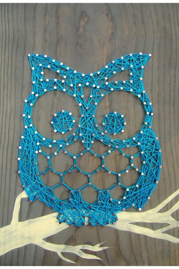 String Art Otis the Owl