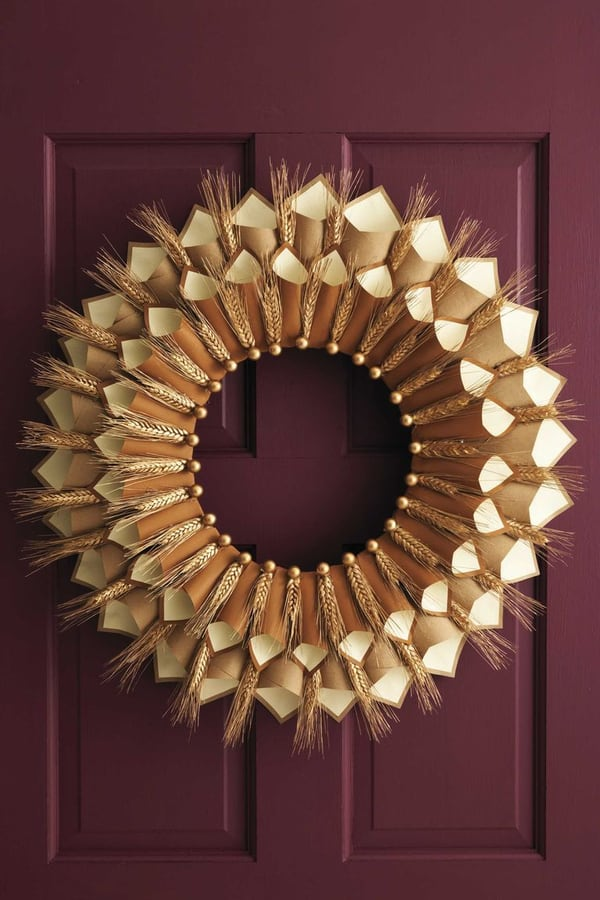 Thanksgiving Paper Cone Gratitude Wreath