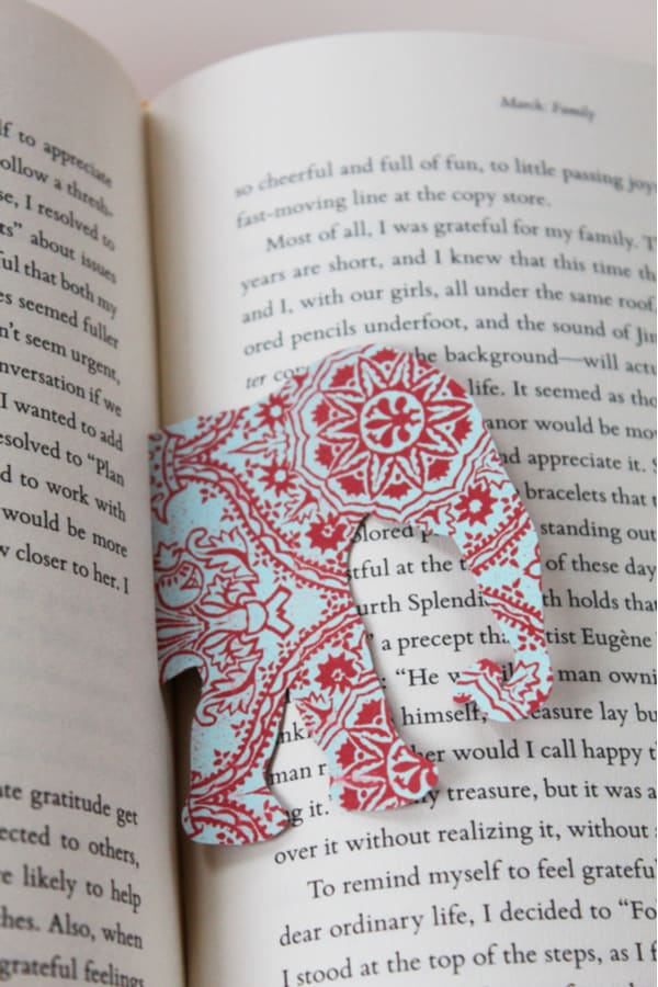 Wild animal bookmark
