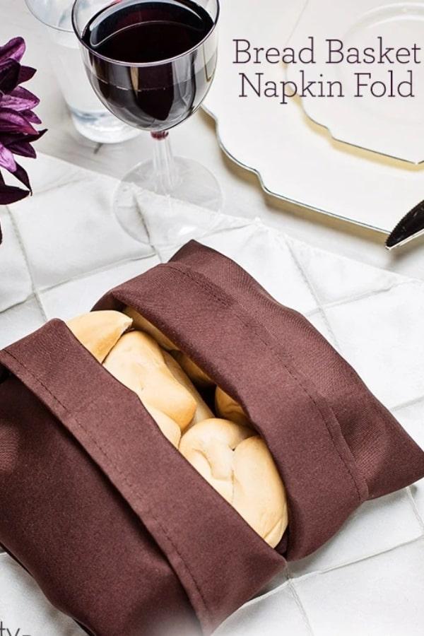 bread basket napkin fold