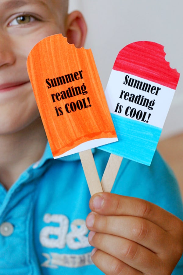 popsicle bookmark with printable
