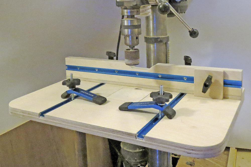 DIY Shop-made Drill Press Table