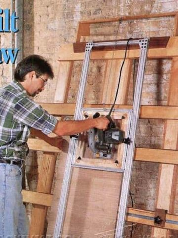 Simple Vertical Panel Saw with Storage