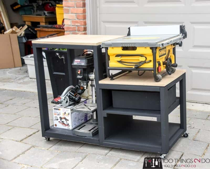 Small DIY Table Saw Stand