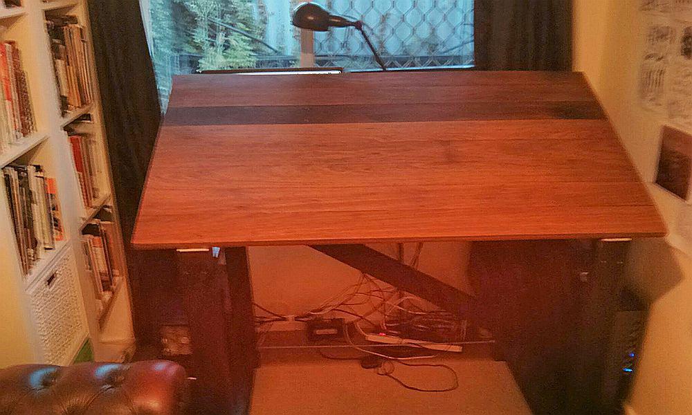 DIY Hardwood Drafting Table