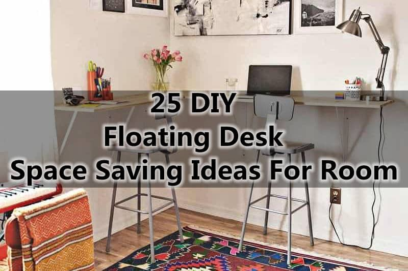 25 diy floating desk space saving ideas