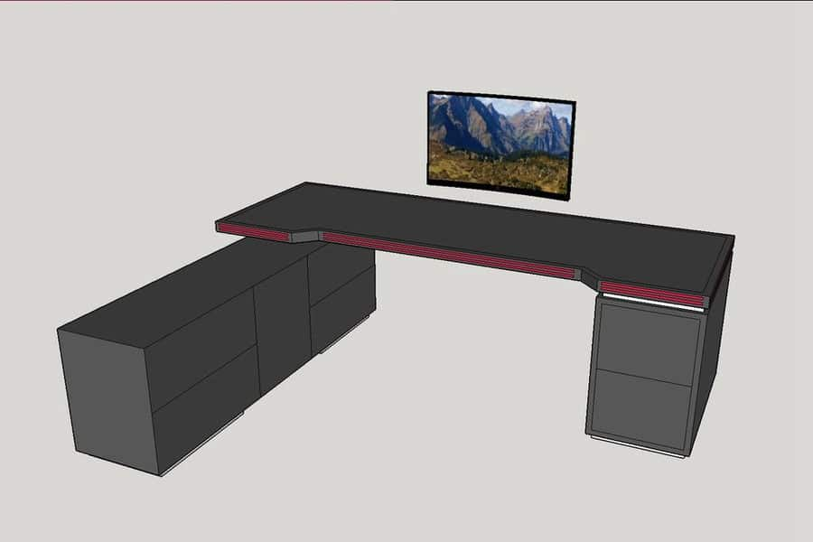 8-Stepped Extreme Gaming Desk