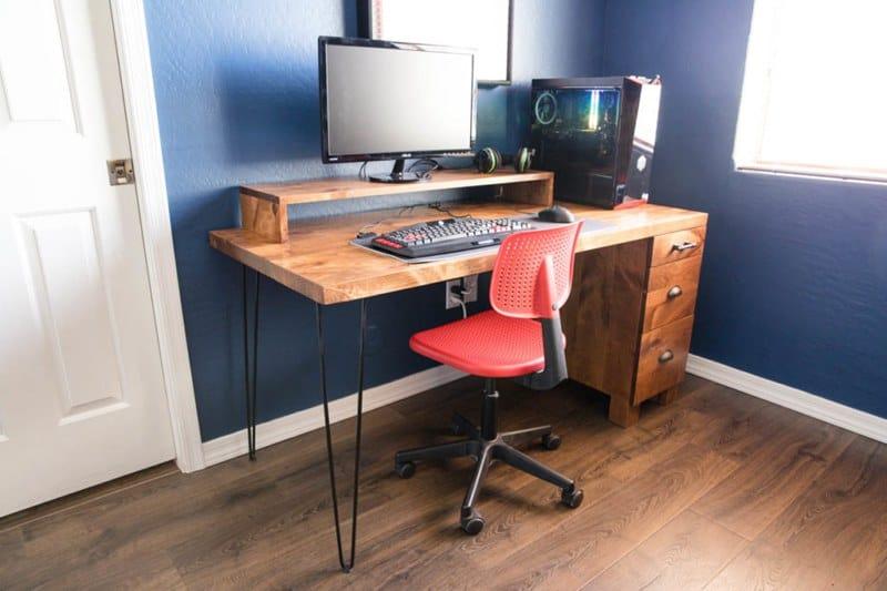 Modern Industrial DIY Computer Desk