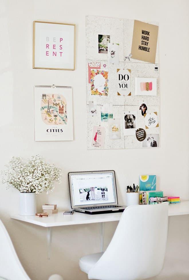 Chic White DIY Floating Desk