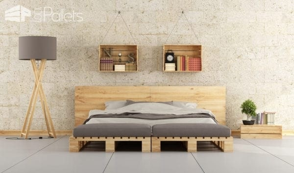 DIY Double Queen Pallet Bed