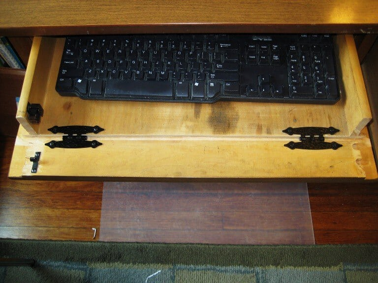 DIY Keyboard Tray out of Desk Drawer