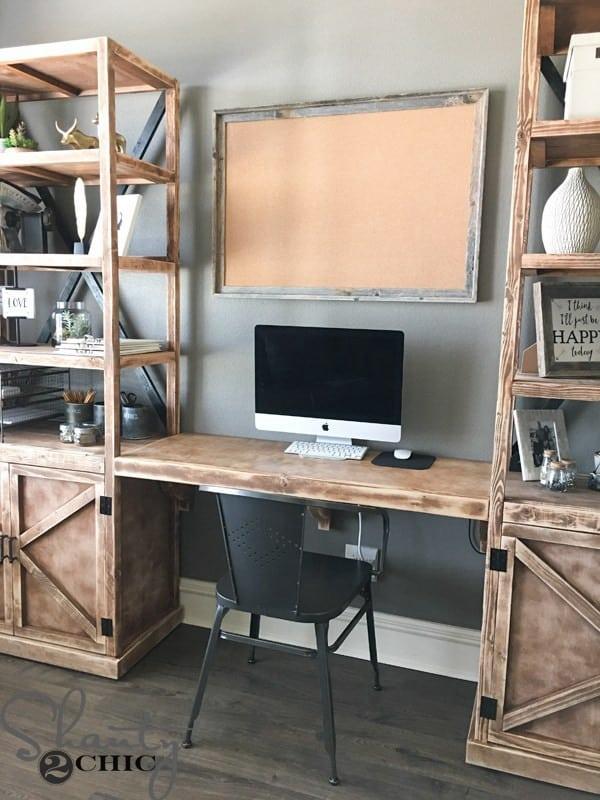 DIY Office Towers Floating Desk