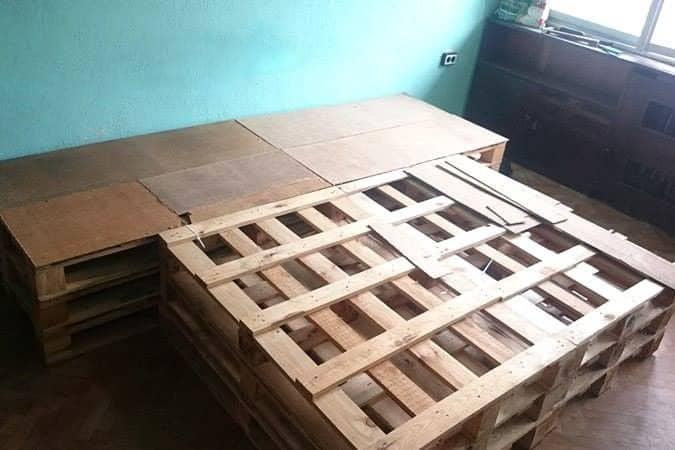 DIY Pallet Bed on a Budget