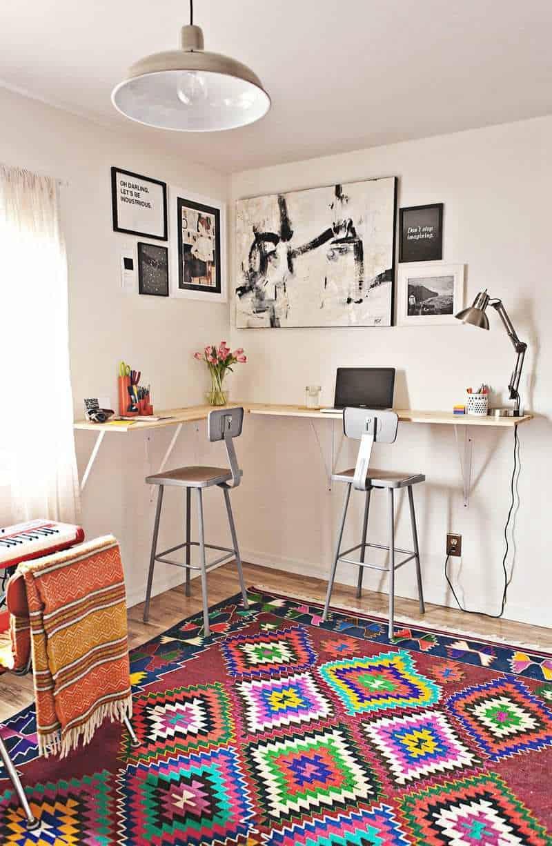 DIY L-Shaped Corner Desk