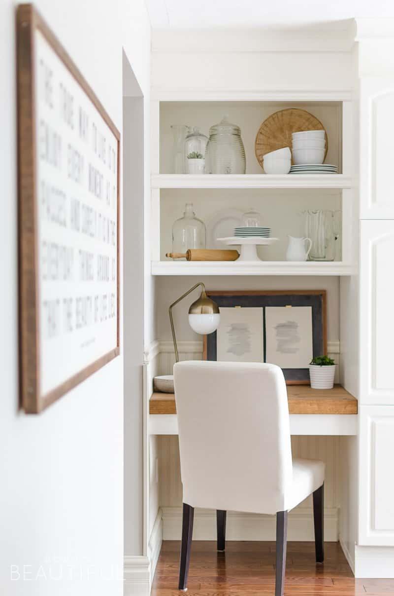 Easy DIY Floating Desk with Storage