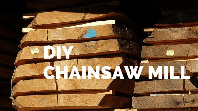Homemade Chainsaw Mill for Small Cuts