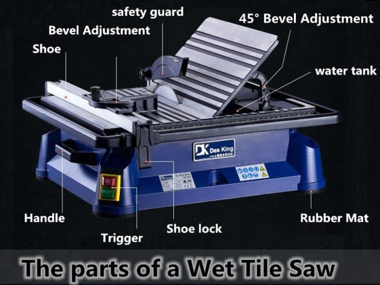 the parts of a Wet Tile Saw