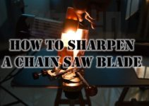 How to Sharpen a Chain Saw Blade with an Electric Sharpener