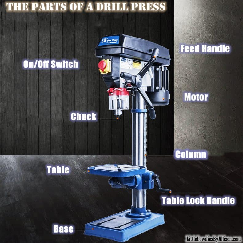 the parts of a Drill Press