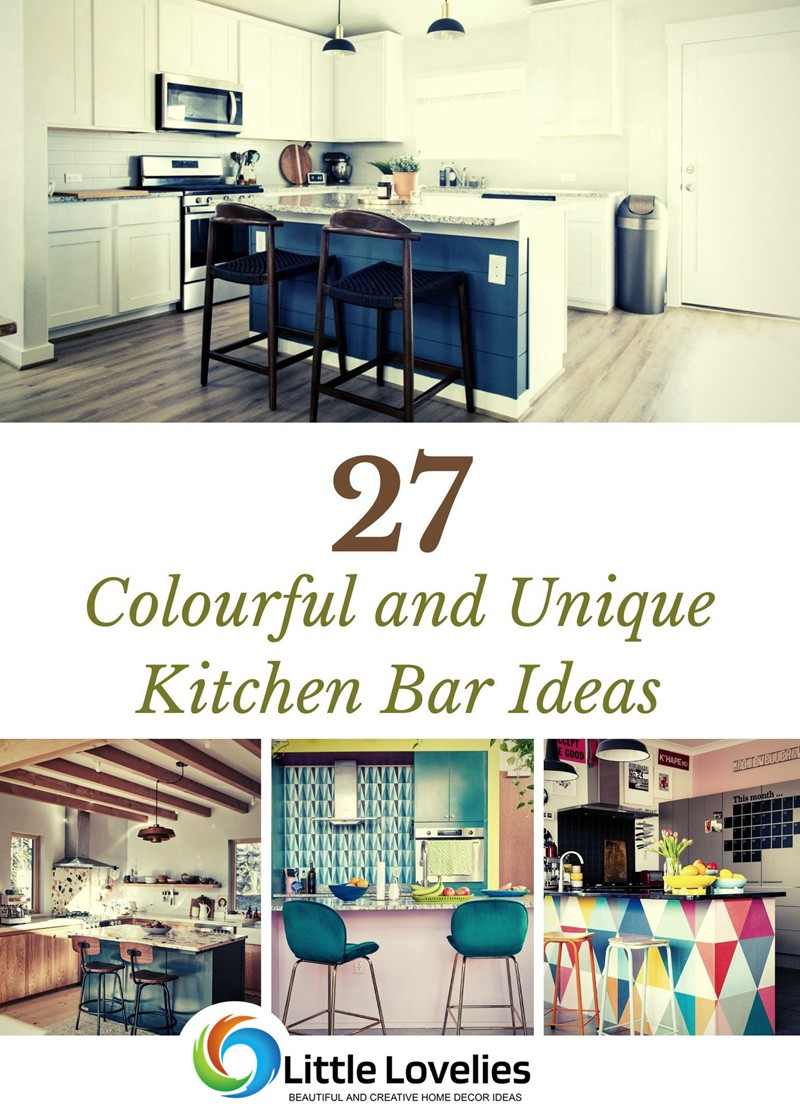 27 Colourful and Unique Kitchen Bar