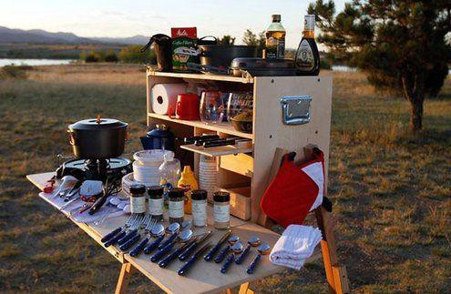 1. DIY Portable Camp Kitchen