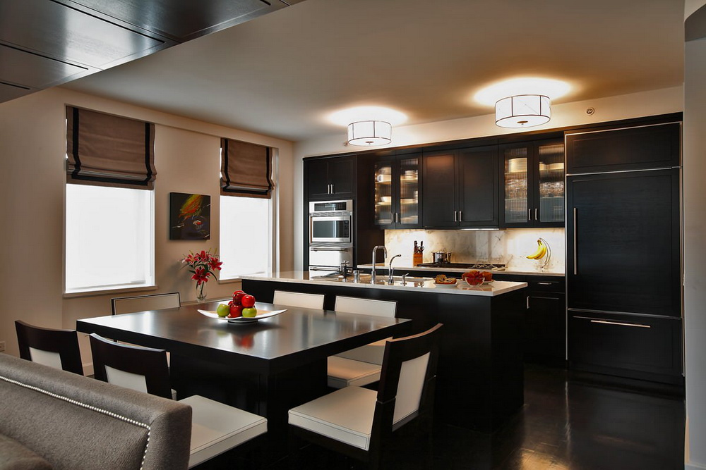 10. CONTEMPORARY BLACK KITCHEN TABLE