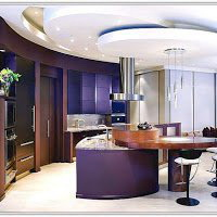 11. Luxury Blue Island with Recessed lighting