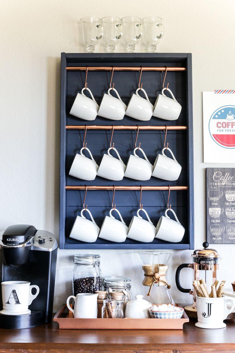 14. SPACE SAVING COFFEE BAR
