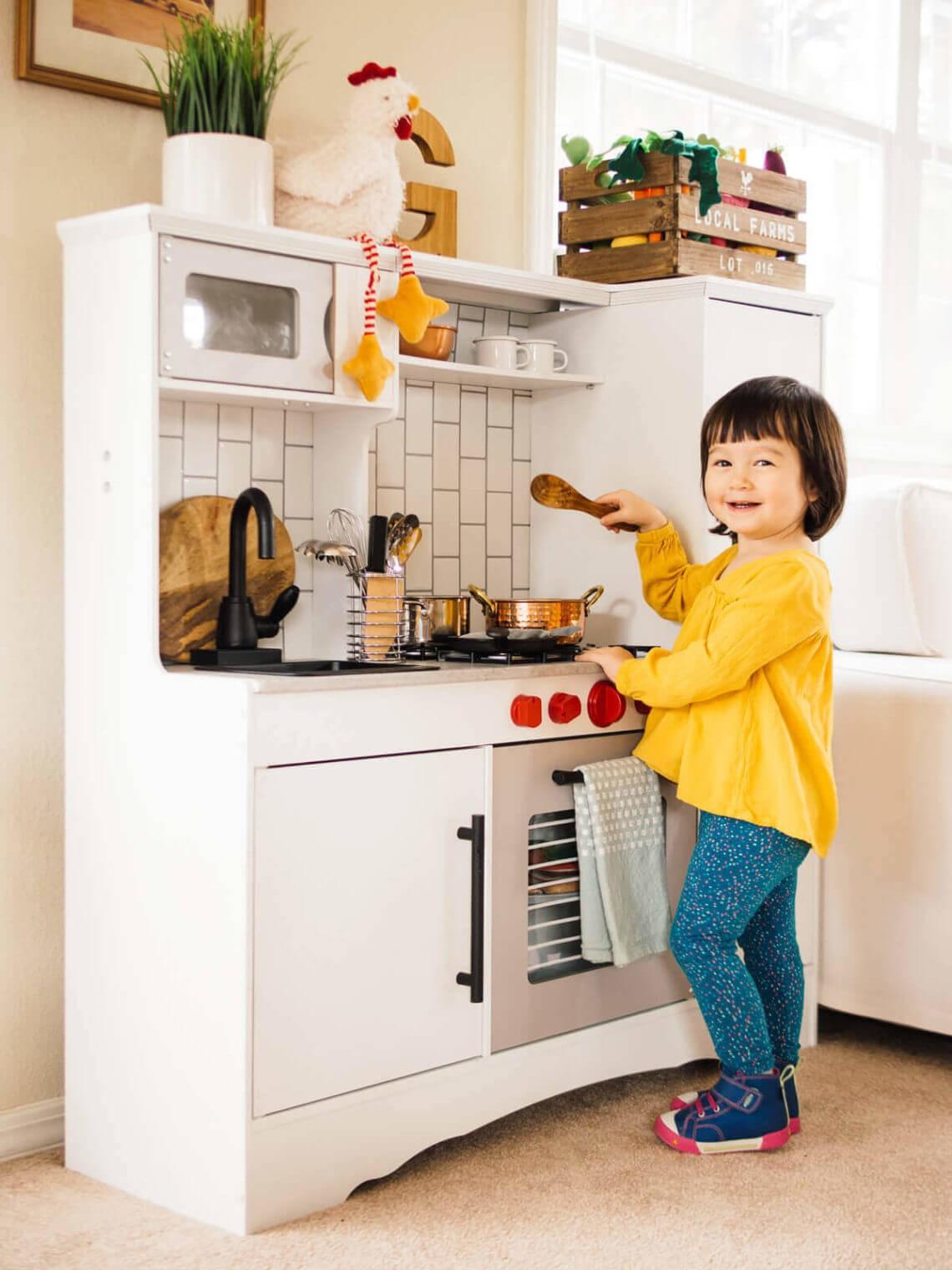 16. DIY Realistic Play Kitchen