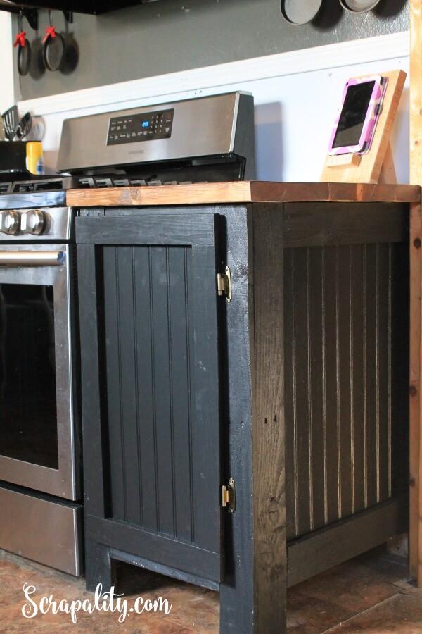 17. Black DIY Cabinet Door Makeover