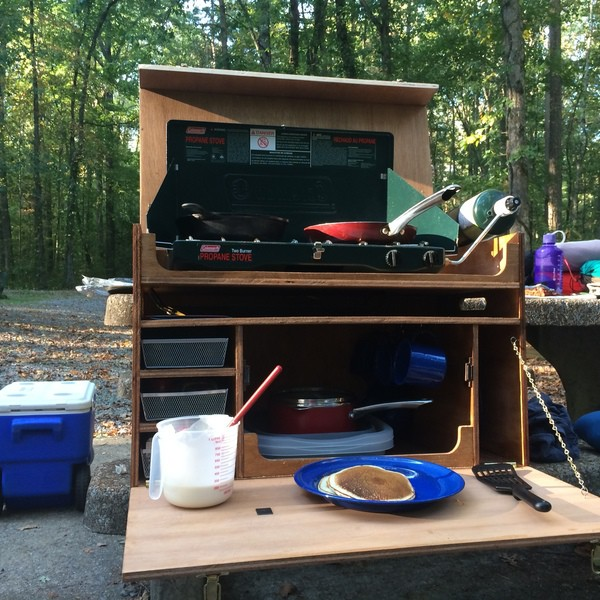 17. Easy To Make Camping Chuck Box