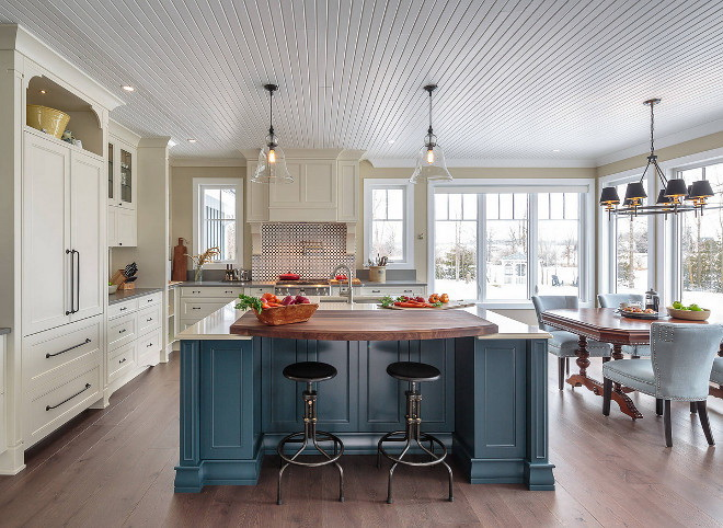 18. DENIM BLUE KITCHEN ISLAND