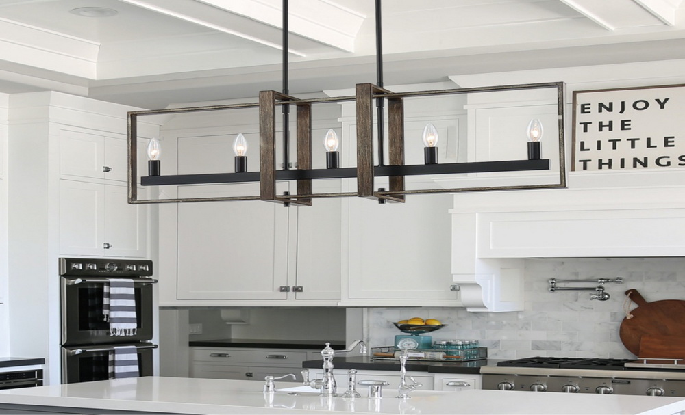 19. THE INDUSTRIAL STYLE KITCHEN ISLAND LIGHTING FIND