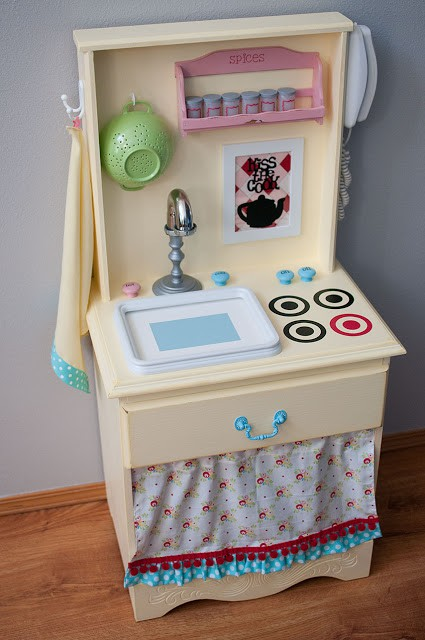 2. Cute Play Kitchen Idea